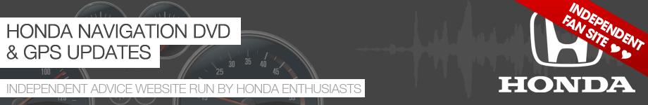 Honda Navigation DVD 2018 - Honda GPS Map Updates